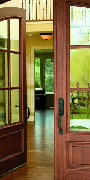 Wood door installation
